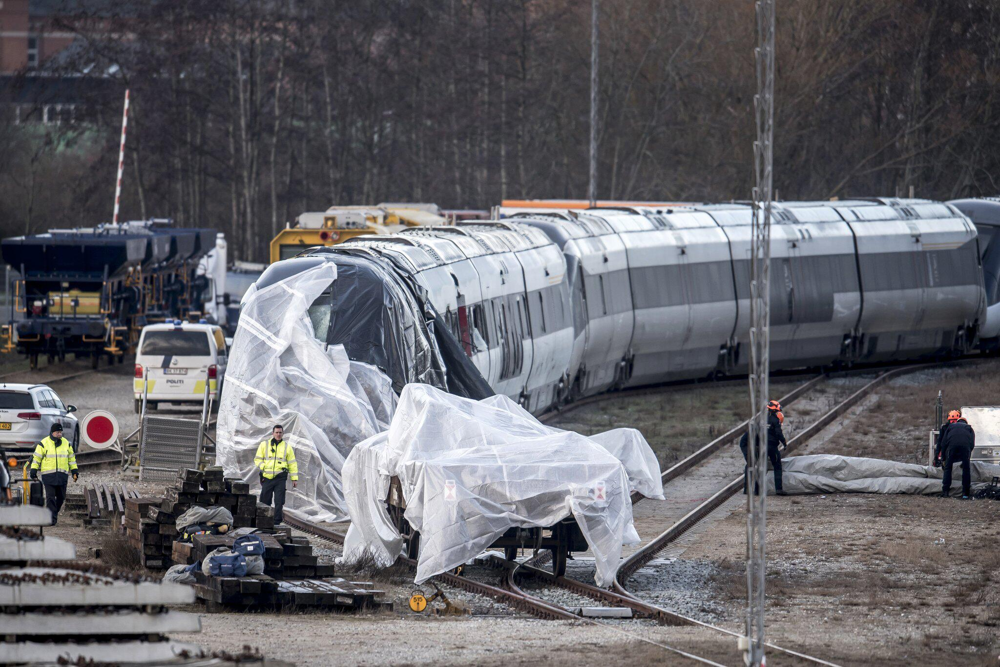 Bild zu Zugunglück in Dänemark am 2. Januar 2019