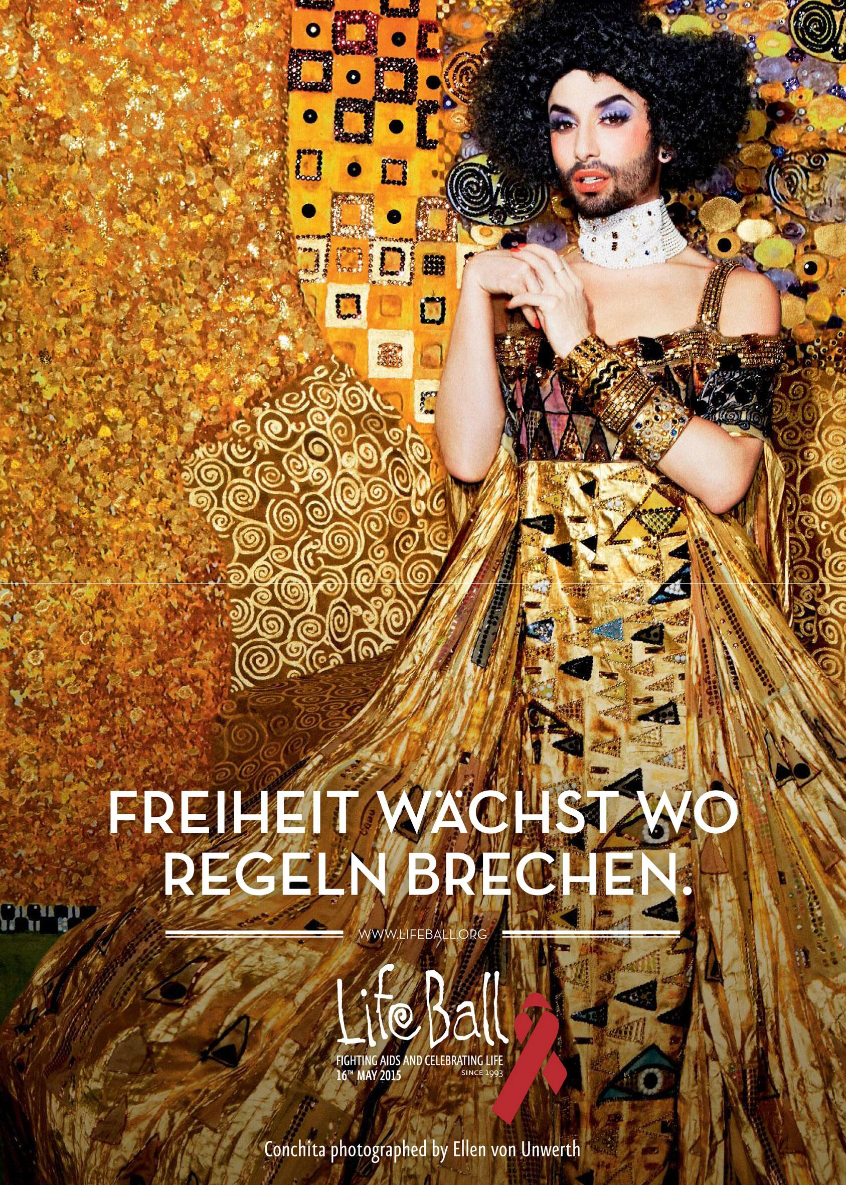 Bild zu Life Ball 2015 Plakat Conchita Wurst