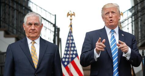 Rex Tillerson und Donald Trump