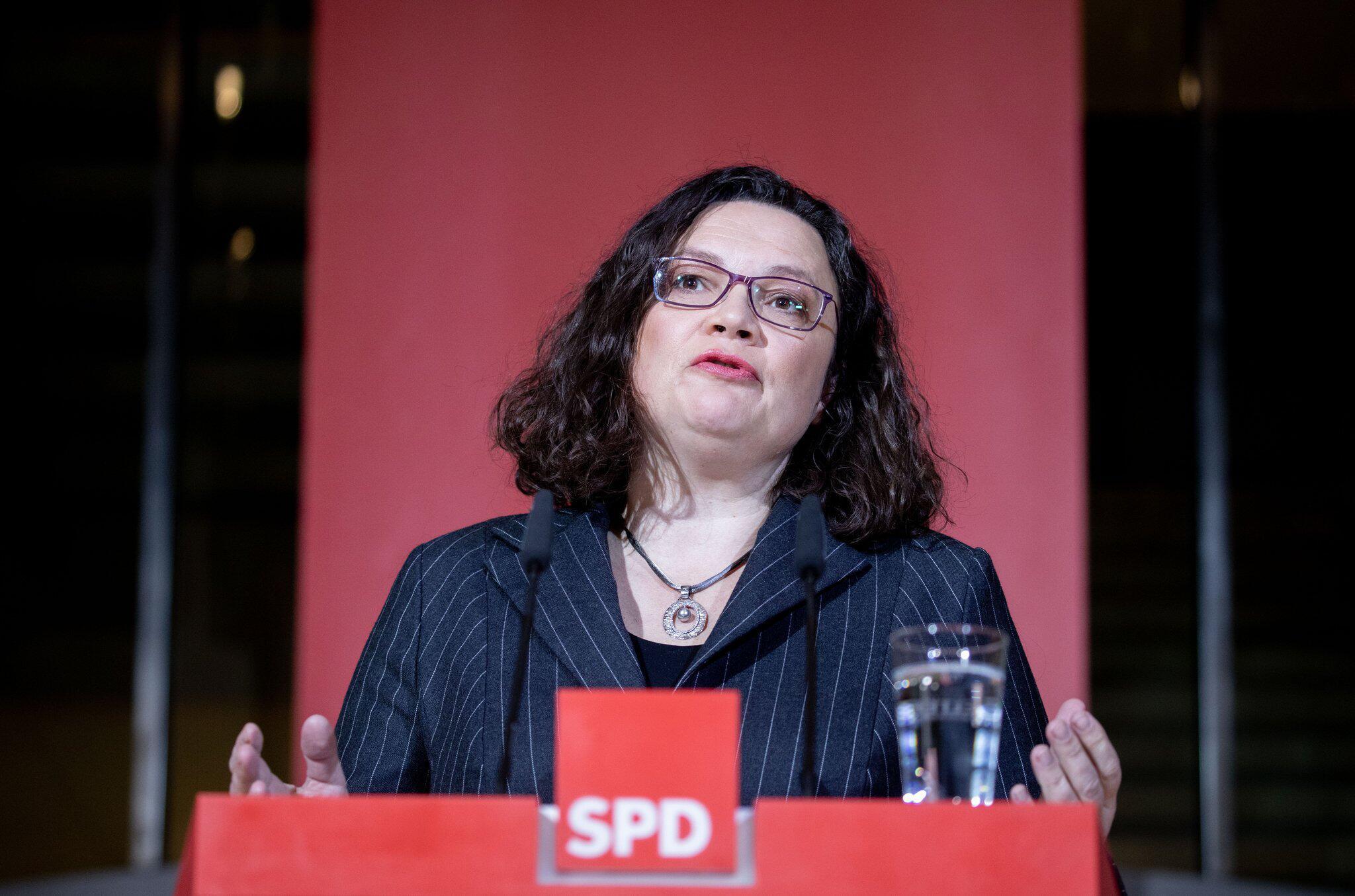 Bild zu Hesse state election - Reaction Nahles