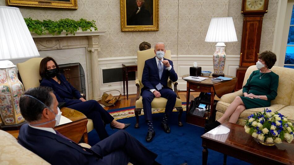 Biden trifft Republikaner wegen Corona-Konjunkturpaket