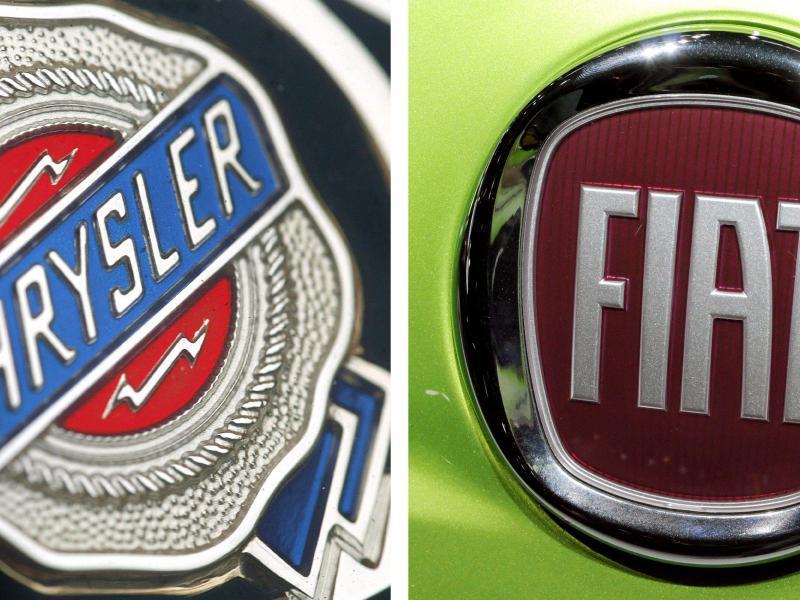 Bild zu Logos von Chrysler und Fiat