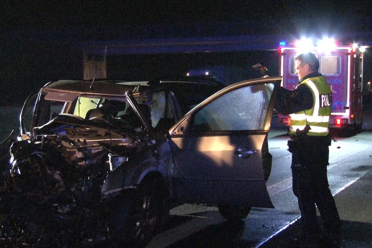 Bild zu Unfall auf der Autobahn 1