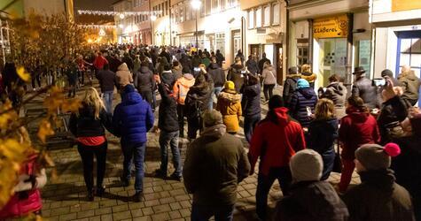Proteste gegen Corona-Regeln in Hildburghausen