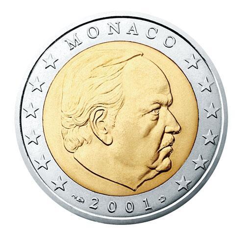 Bild zu 2-Euro-Münze aus Monaco