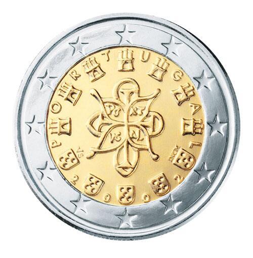 Bild zu 2-Euro-Münze aus Portugal