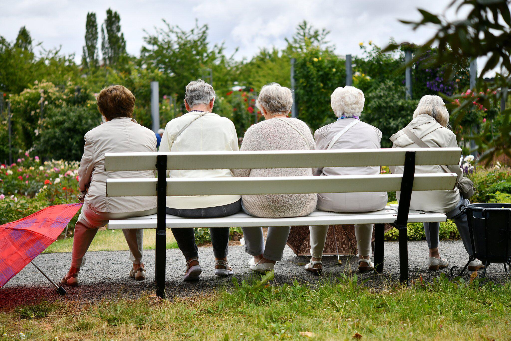 Bild zu Rentner, Bank