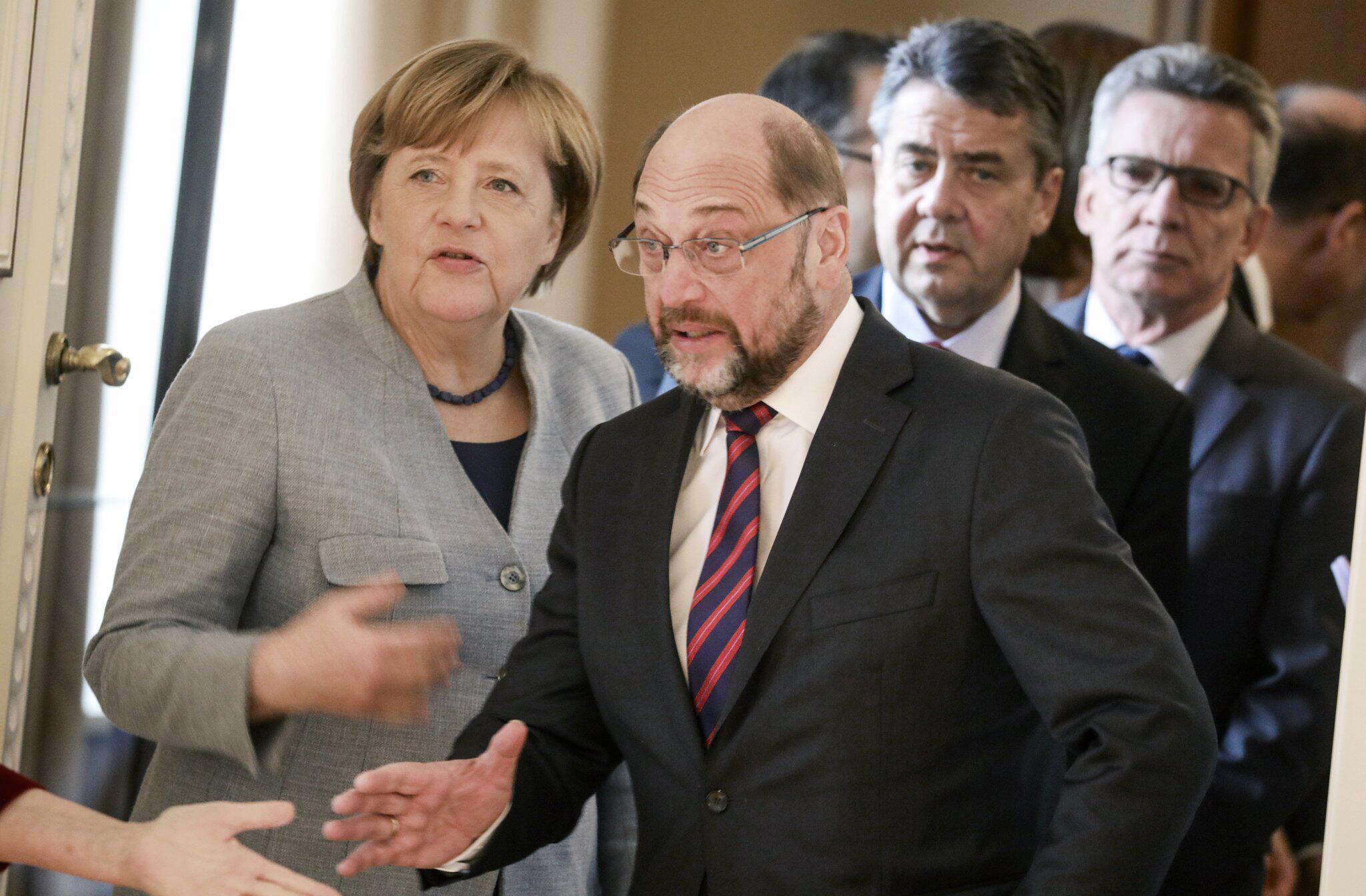 Bild zu Angela Merkel, Martin Schulz