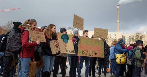 Schülerdemo für Kohleausstieg