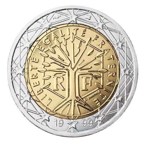 Bild zu 2-Euro-Münze aus Frankreich
