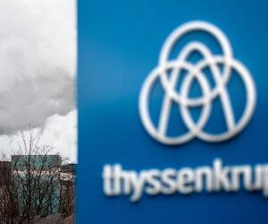 Grobblechwerk von Thyssenkrupp in Duisburg-Hüttenheim
