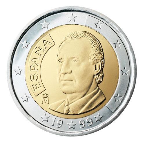 Bild zu 2-Euro-Münze aus Spanien