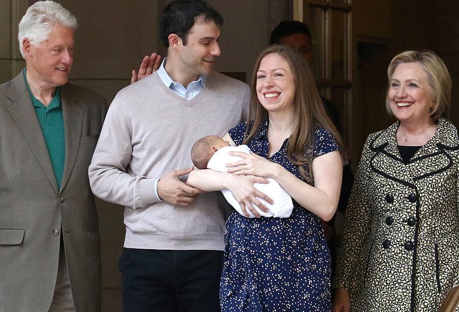 Bild zu Marc Mezvinsky und Chelsea Clinton: Baby!