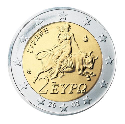 Bild zu 2-Euro-Münze aus Griechenland