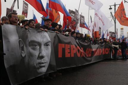 Trauermarsch für Boris Nemzow