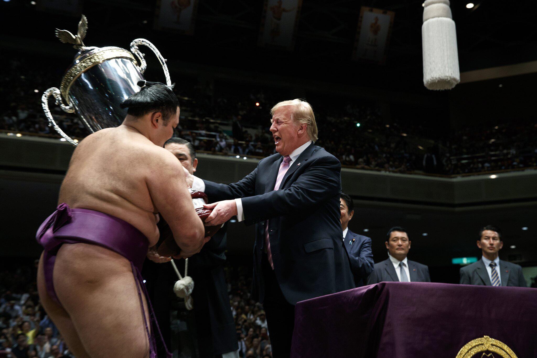 Bild zu US-Präsident Trump besucht Japan