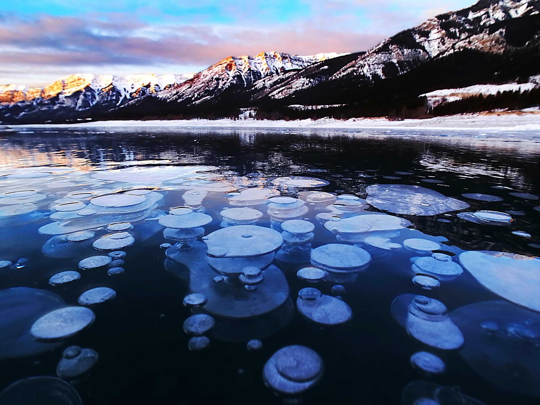 Bild zu gefrorene Methanblasen