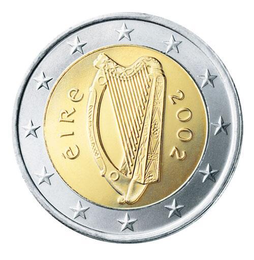 Bild zu 2-Euro-Münze aus Irland