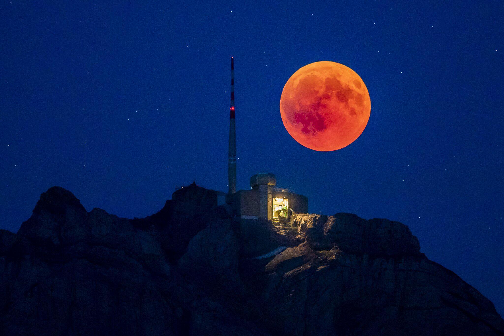 Bild zu Mondfinsternis, Schweiz