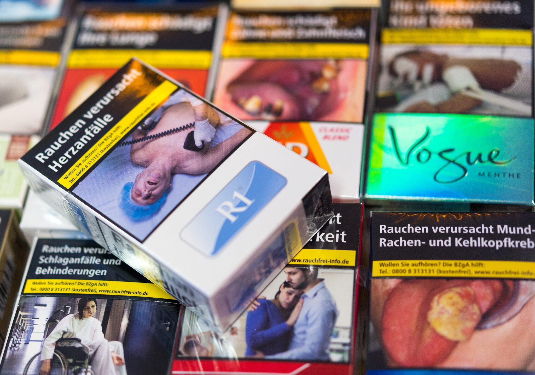 Bild zu Schockbilder auf Zigarettenschachteln