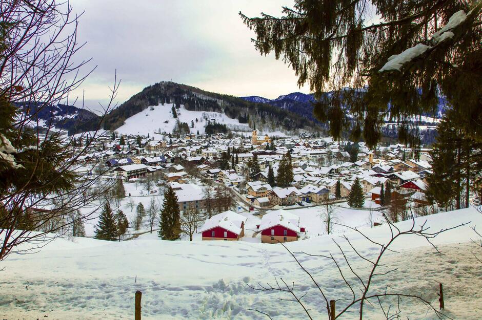 Oberstaufen im Allgäu - Bild von oben
