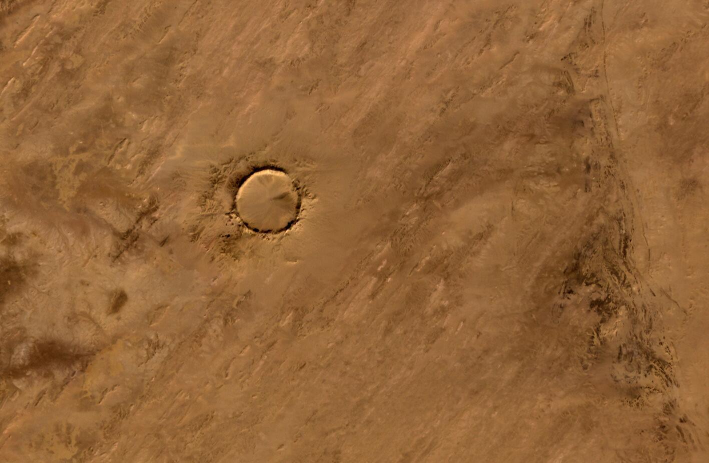 Bild zu Tenoumer Meteori Krater Mauretanien