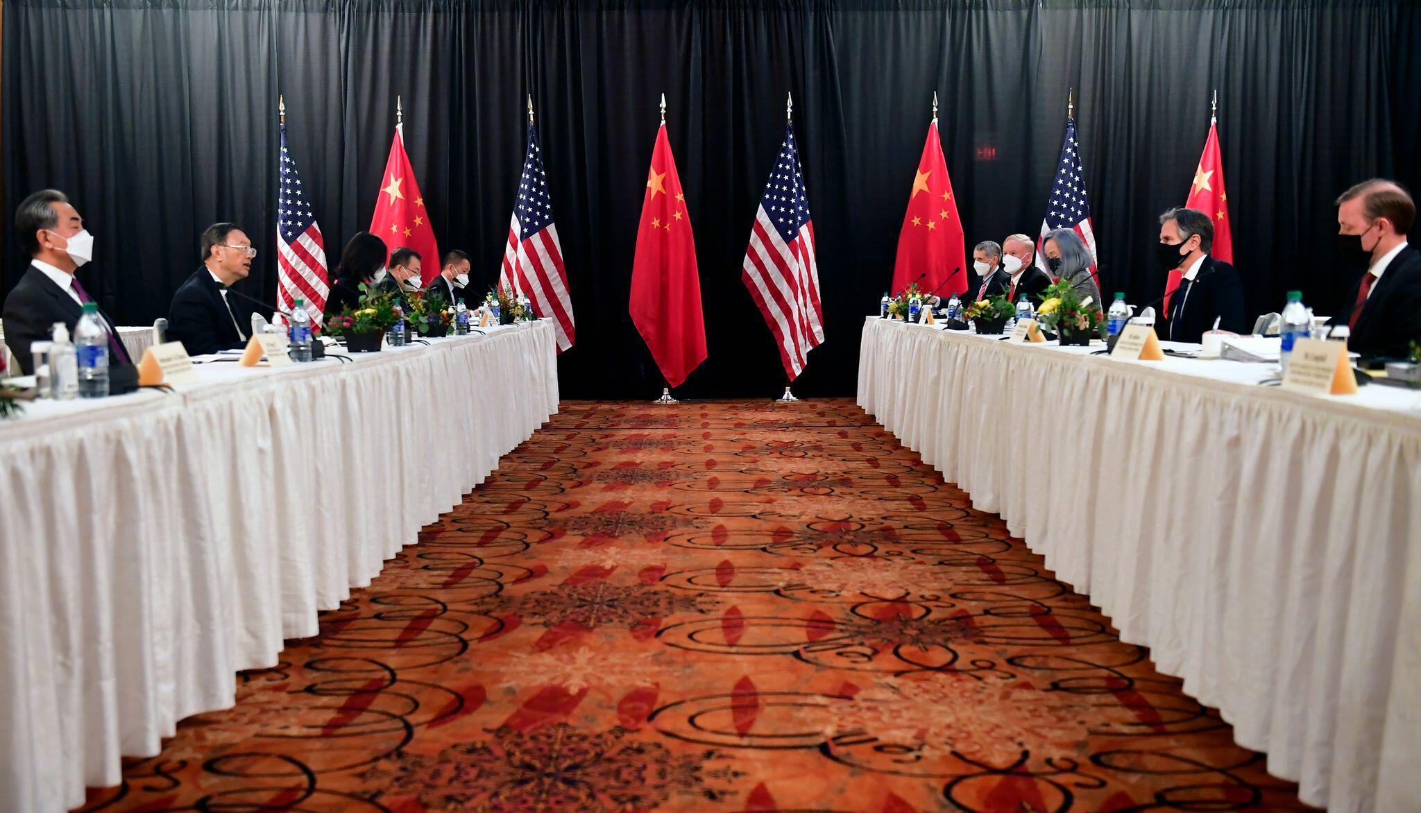 Bild zu Diplomatisches Treffen zwischen USA und China