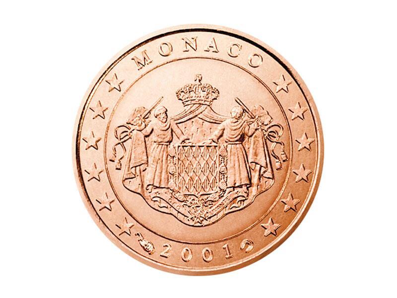 Bild zu 1-Cent-Münze aus Monaco