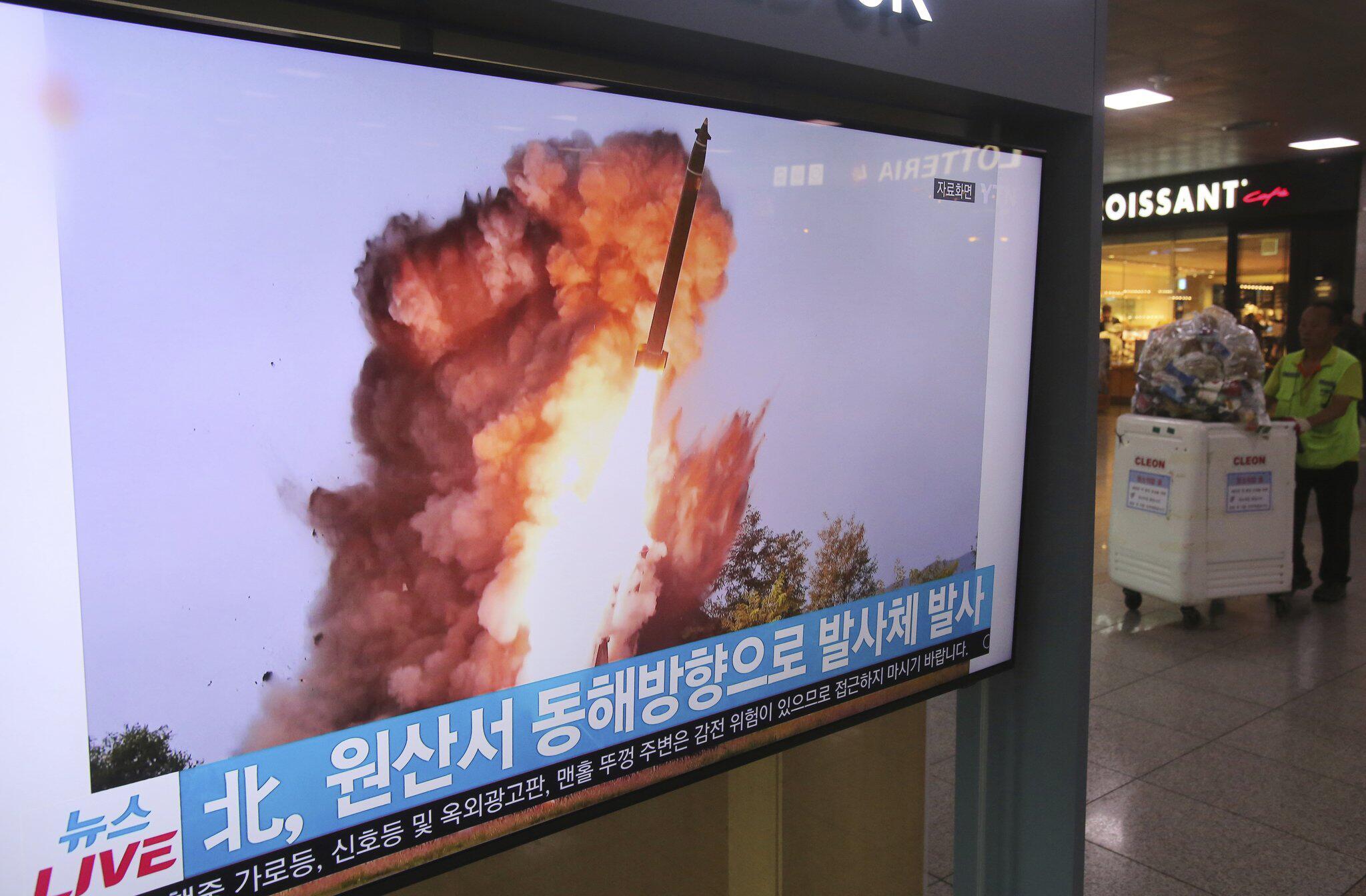 Bild zu Bericht: Neuer nordkoreanischer Raketentest