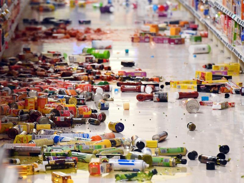 Bild zu Schäden in Supermarkt