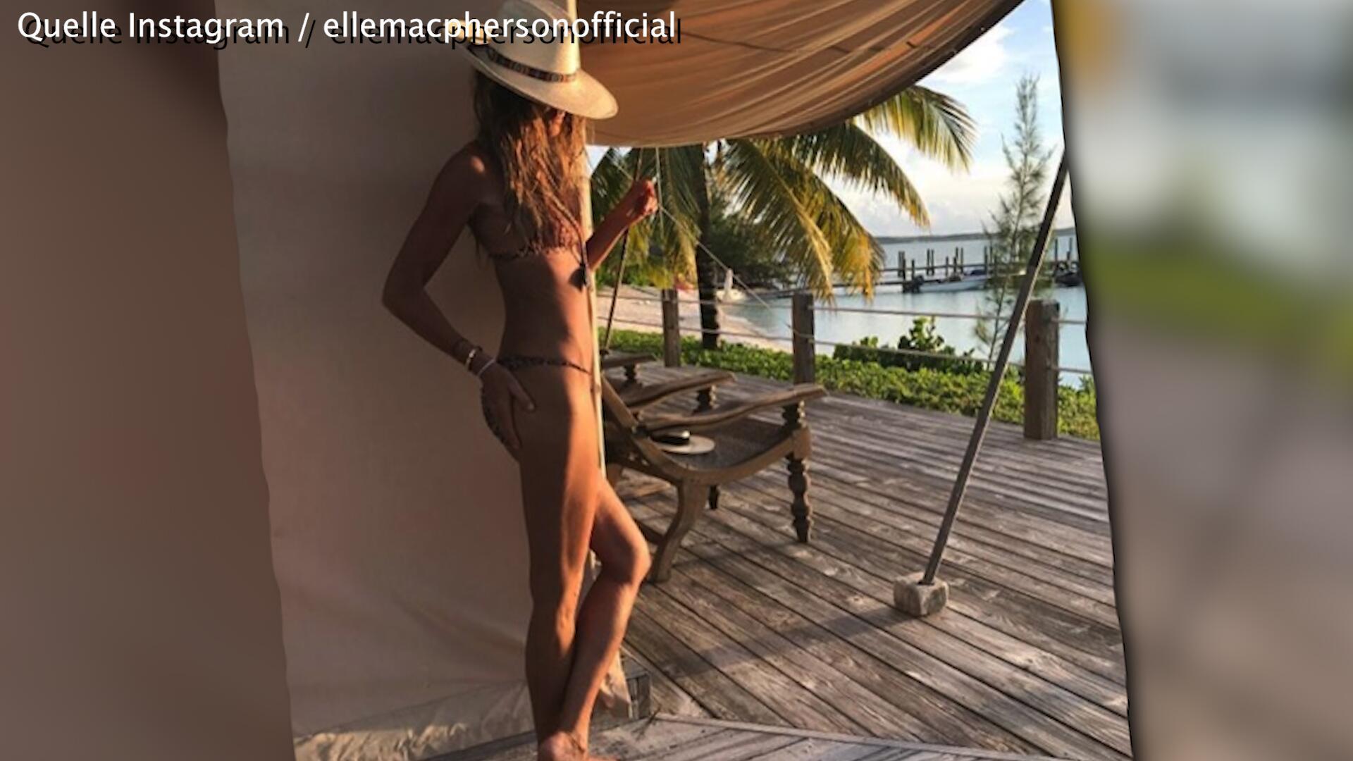 Bild zu Elle MacPhersons heisser Body mit 53