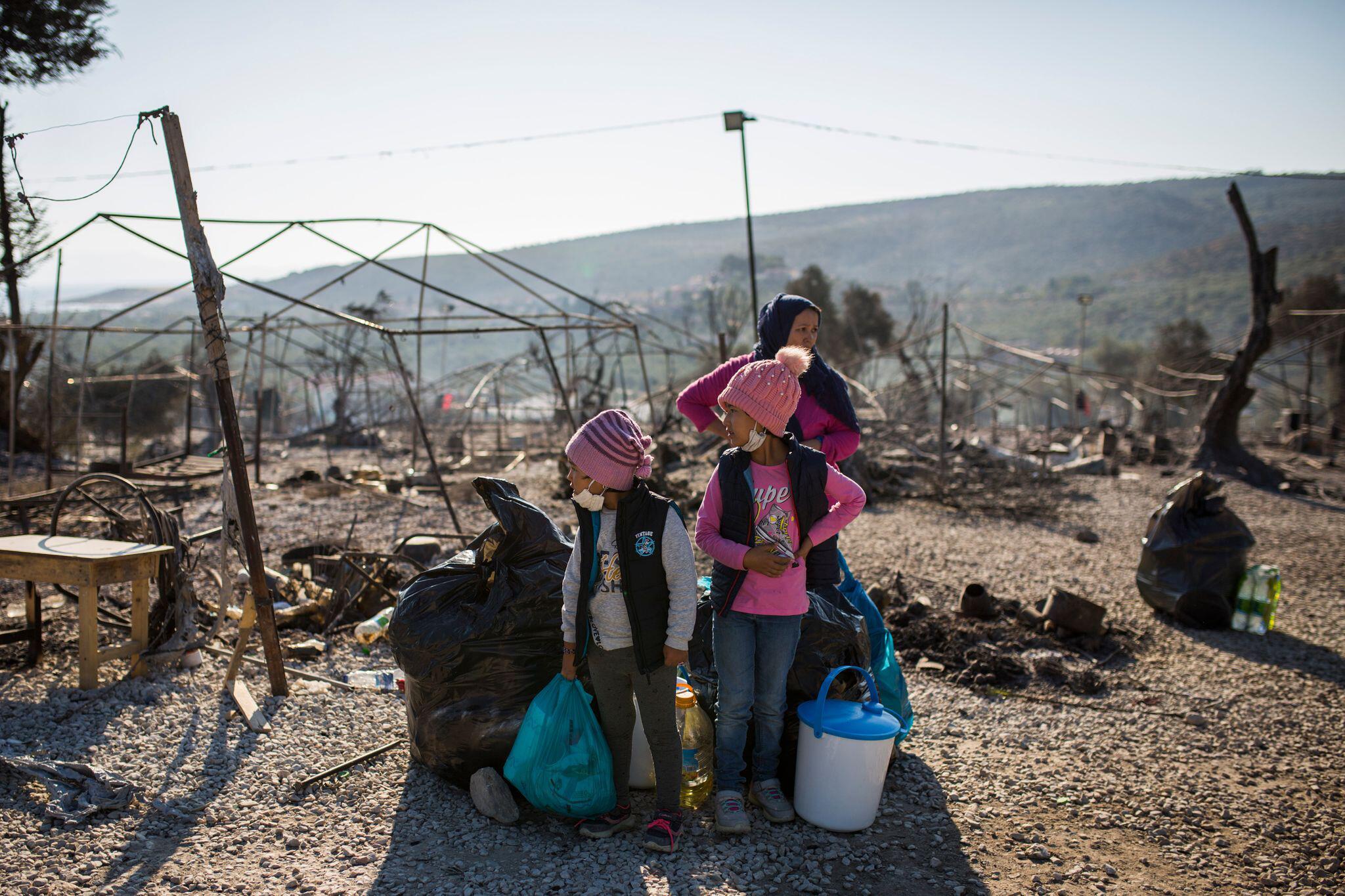 Bild zu Brand in Flüchtlingslager Moria auf Lesbos