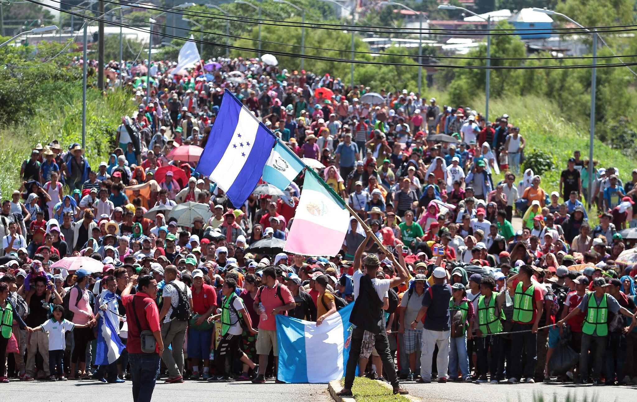 Bild zu Mittelamerikanische Migranten auf dem Weg in die USA