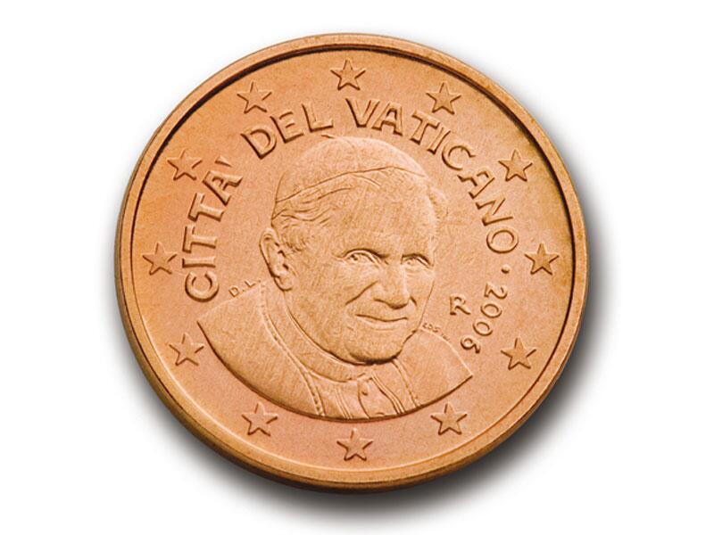Bild zu 1-Cent-Münze aus dem Vatikan