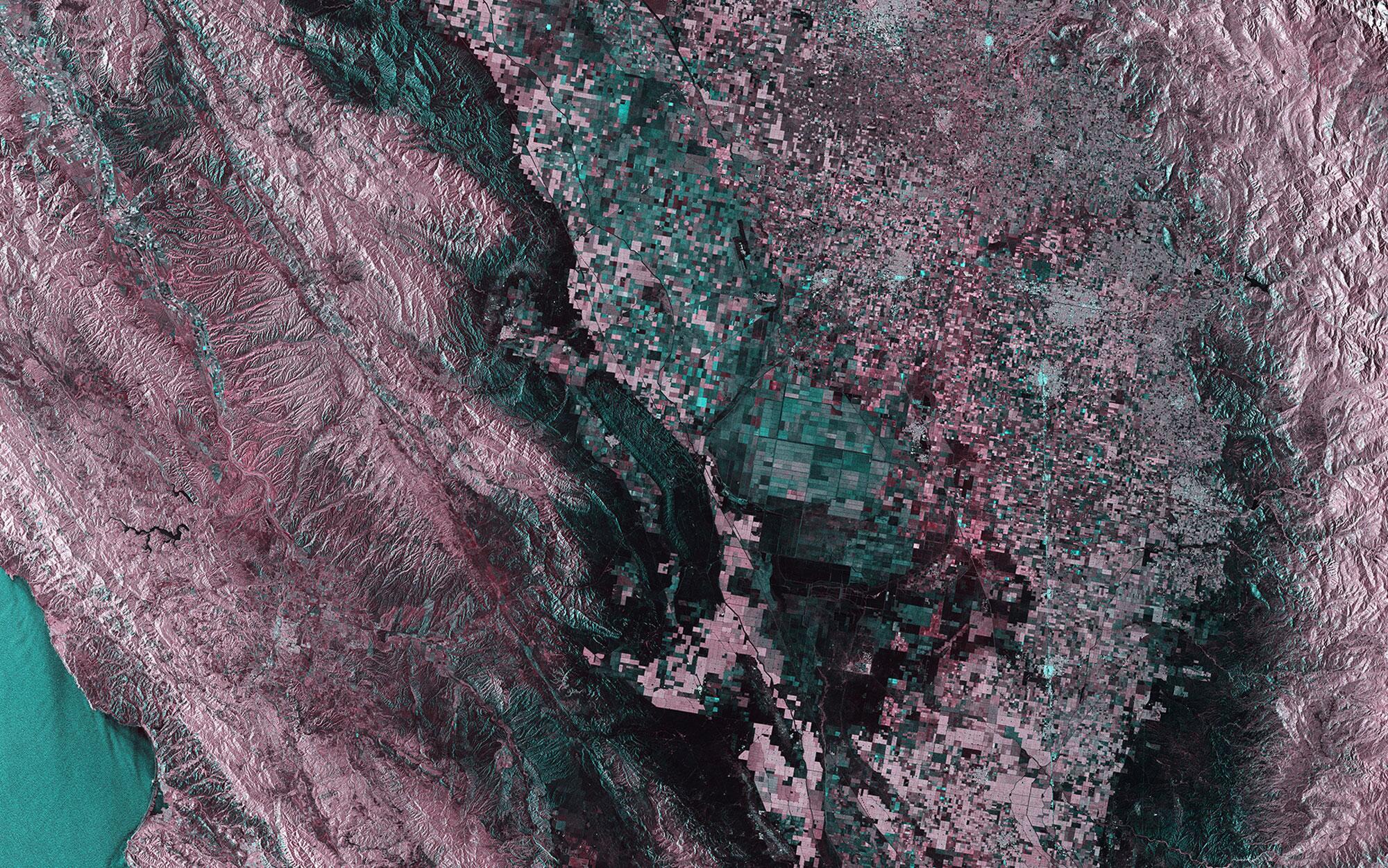 Bild zu Satellitenbild, Kalifornien