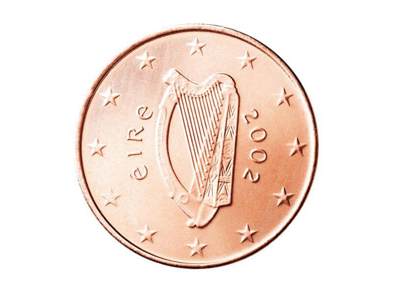 Bild zu 1-Cent-Münze aus Irland