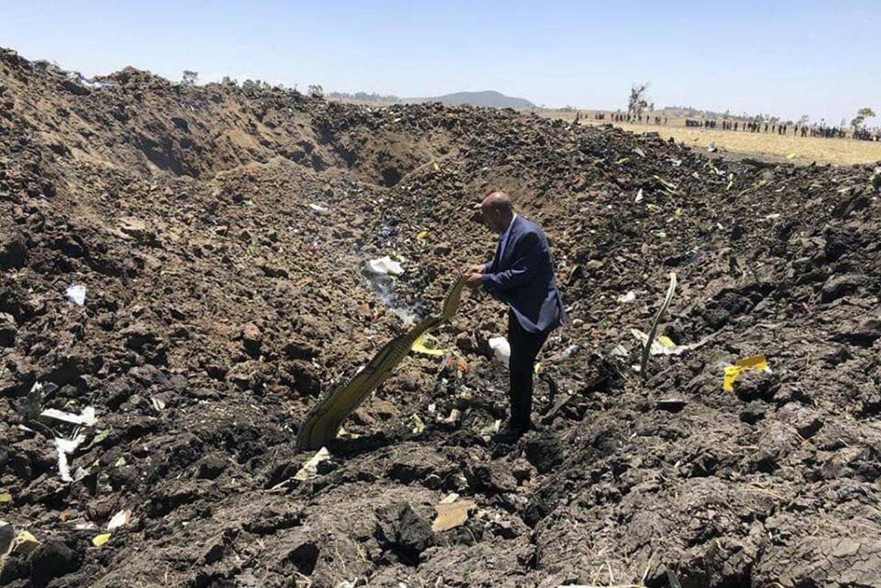 Bild zu Flugzeug von Ethiopian Airlines abgestürzt