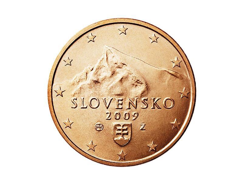 Bild zu 1-Cent-Münze aus der Slowakei