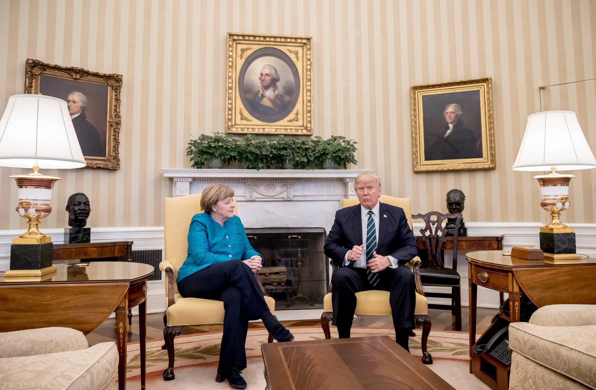 Bild zu Angela Merkel, Donald Trump