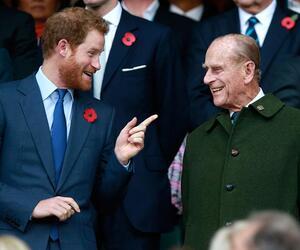 Prinz Philip und sein Enkel Prinz Harry