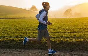 Joggen Sport Jogger Sonnenuntergang
