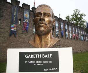 Büste des Fußballspielers Gareth Bale