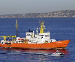 """Rettungsschiff """"Aquarius"""" in Marseille"""