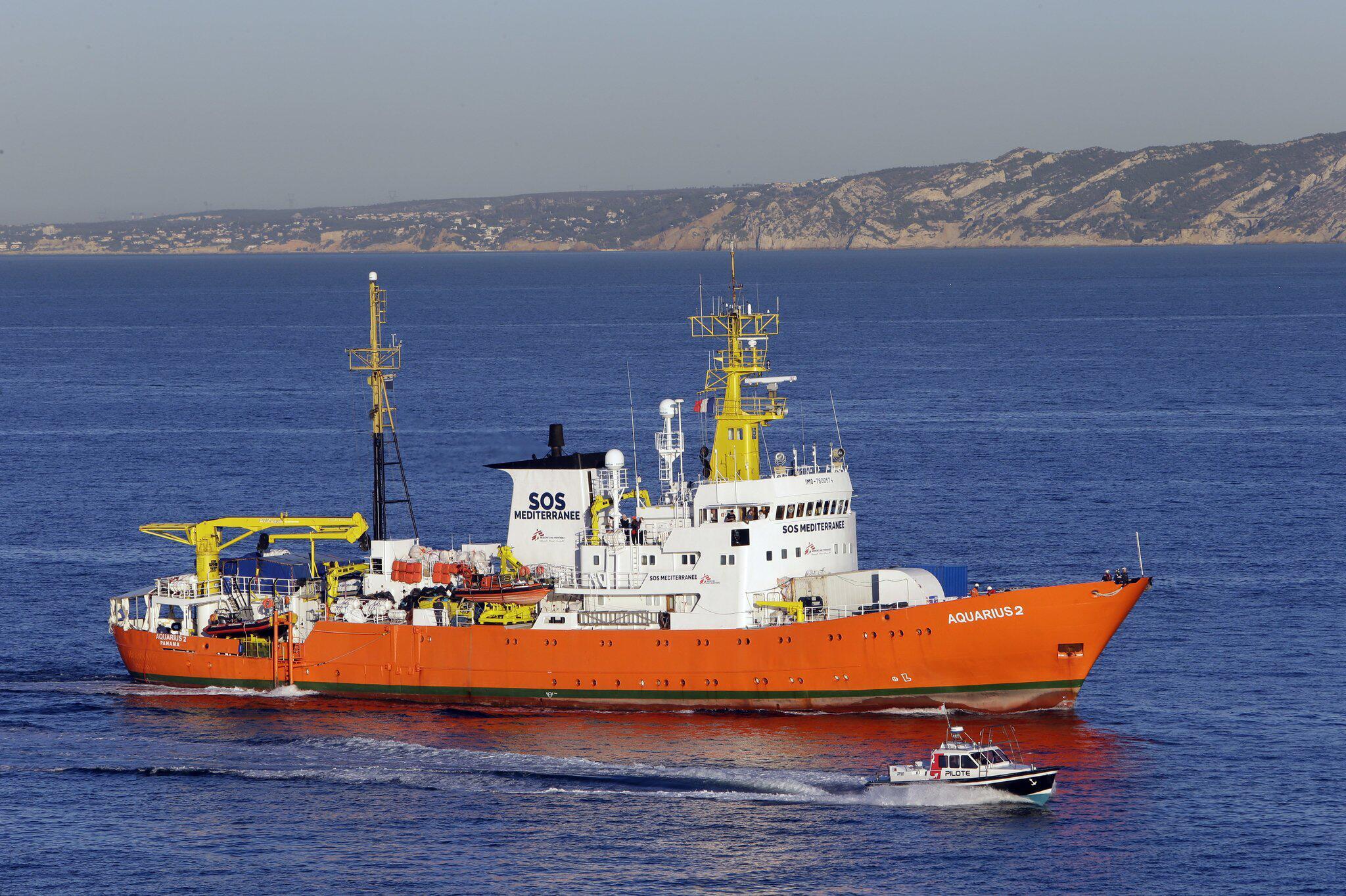 "Bild zu Rettungsschiff ""Aquarius"" in Marseille"