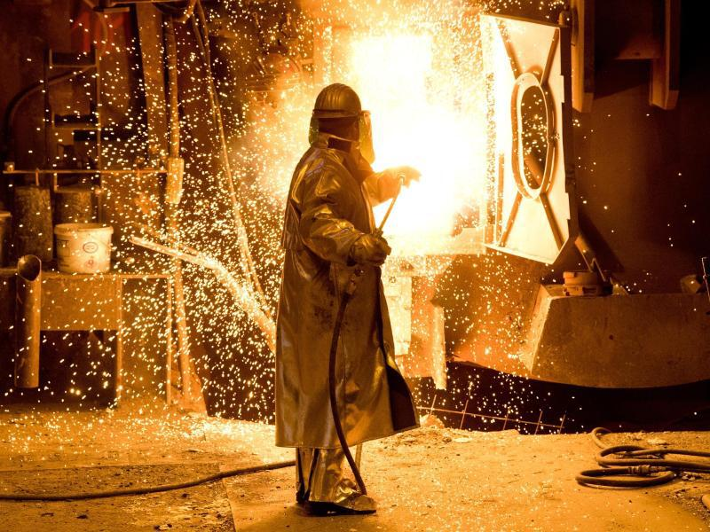 Bild zu Stahlproduktion