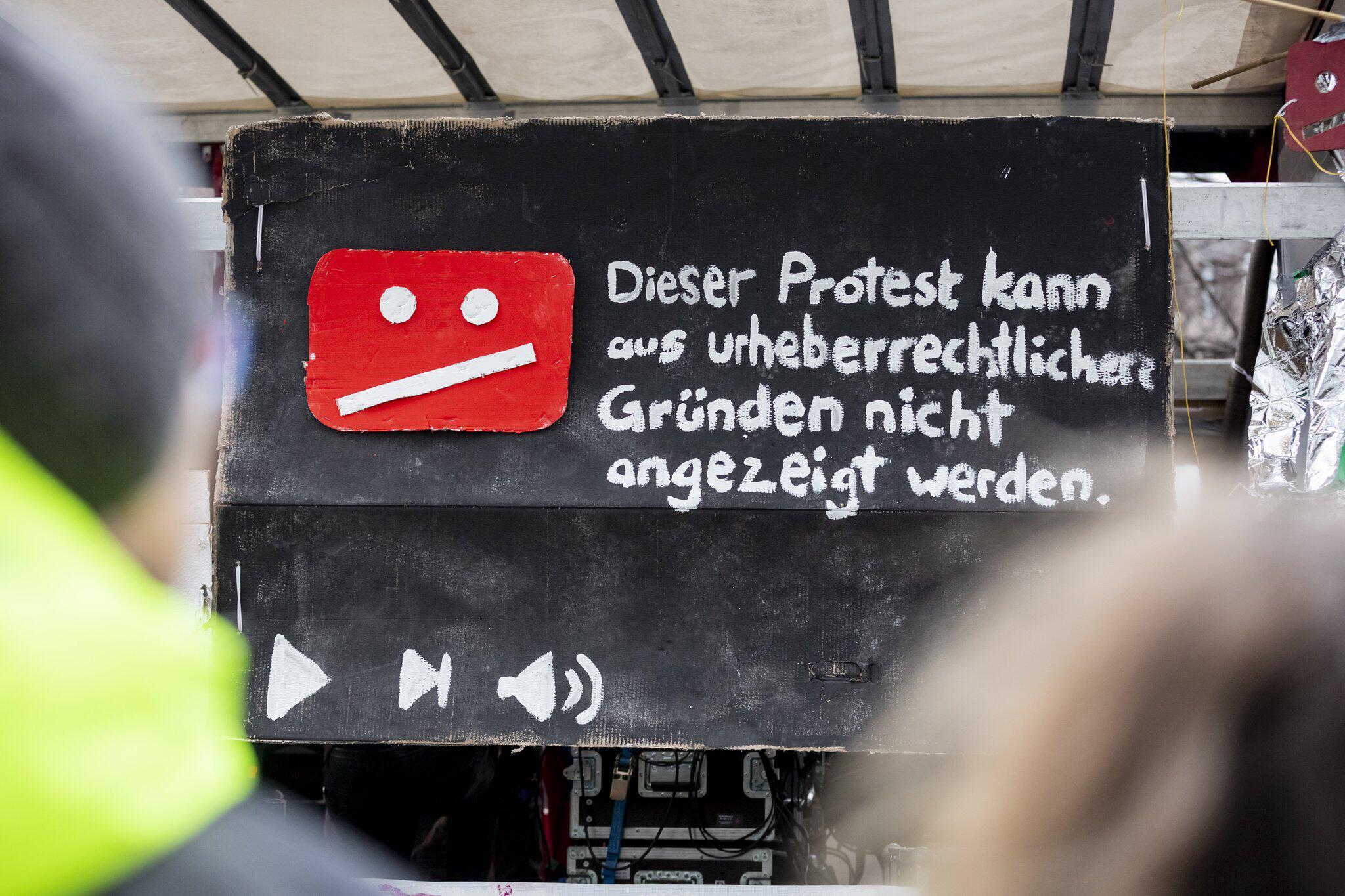 Bild zu Protest gegen Uploadfilter und EU-Urheberrechtsreform