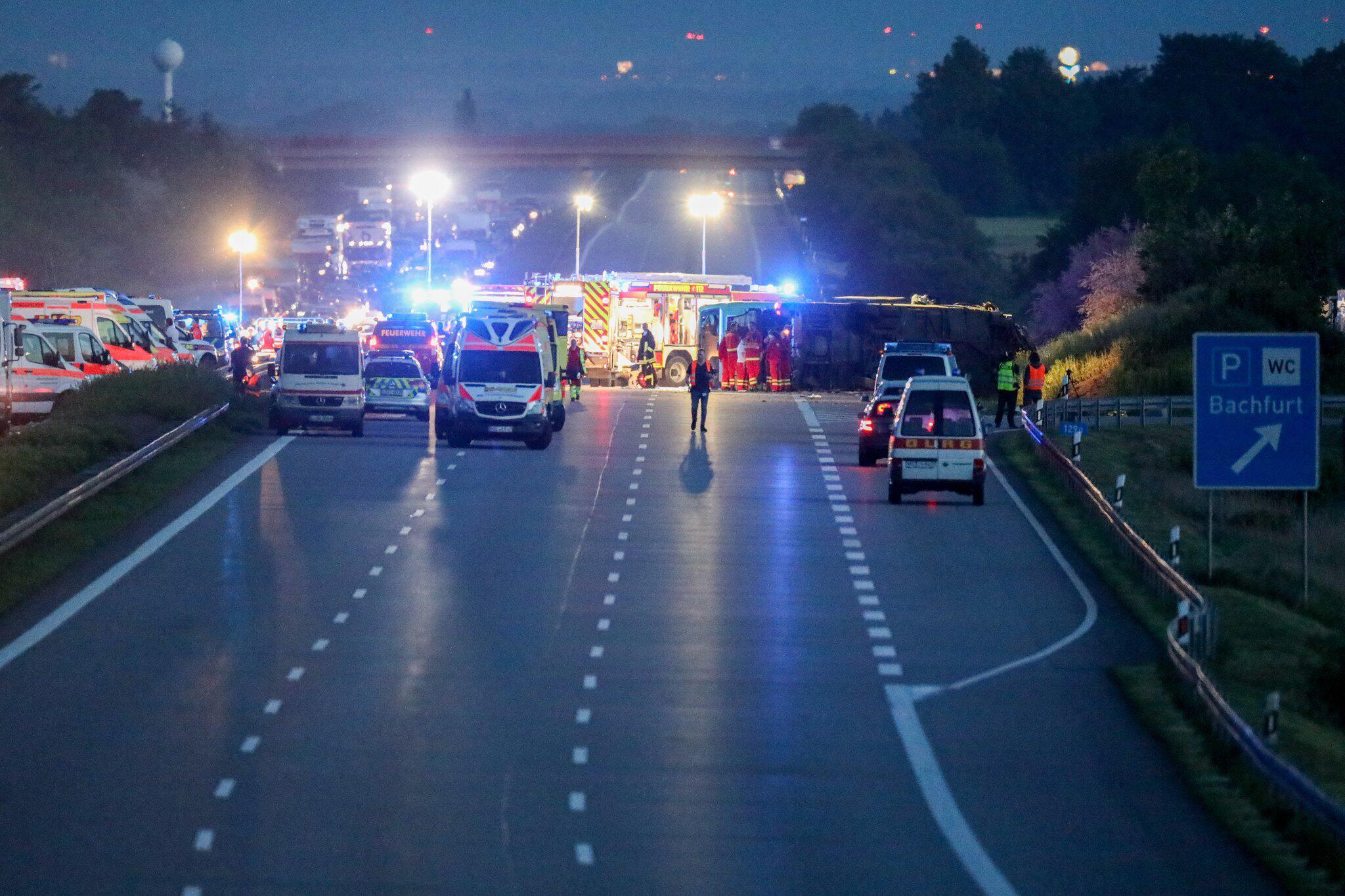 Bild zu Serious bus accident on A9
