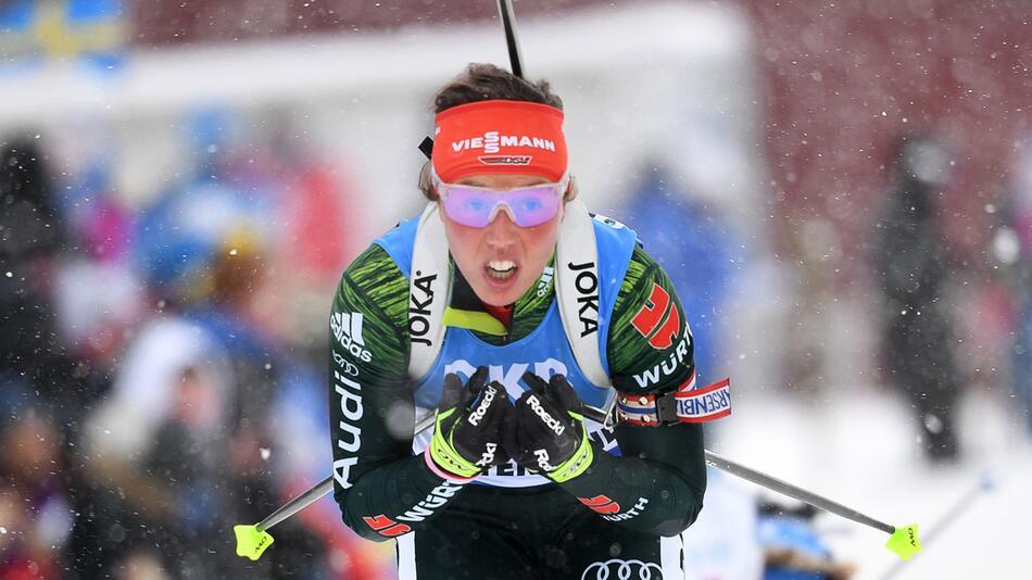 Laura Dahlmeier, Biathlon, Östersund, Weltmeisterschaft, Verfolgung