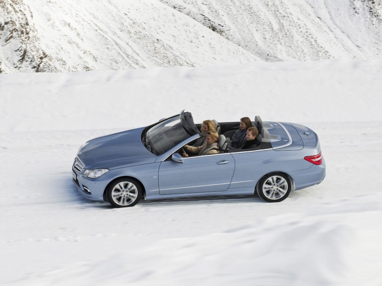 Bild zu Cabrio im Winter fahren: Mit modernem Verdeck kein Problem