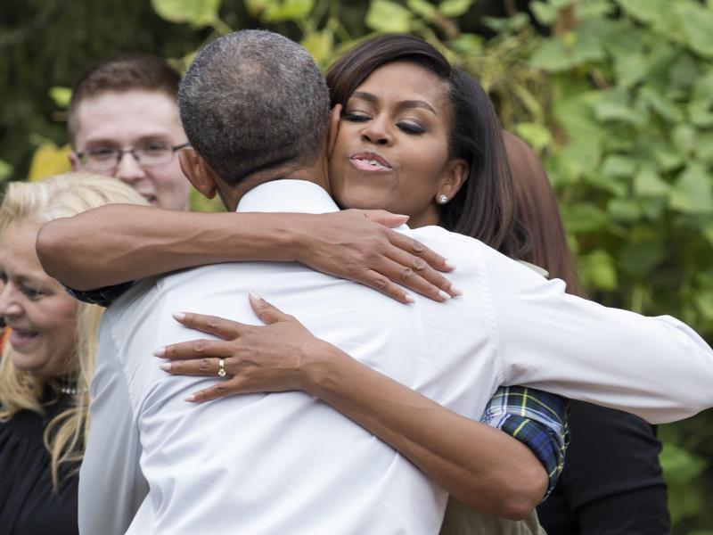 Bild zu Michelle & Barack Obama